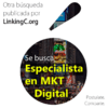 Se busca Especialista en Marketing Digital - 	21/06/2019 11:33:31