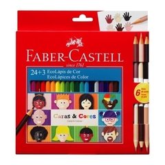 ECOLAPICES FABER CASTELL CARAS Y COLORES  24+3