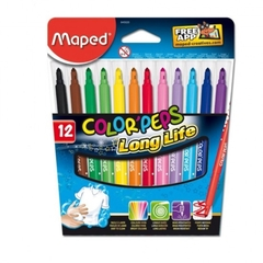 MARCADORES MAPED COLOR´PEPS LONG LIFE X 12