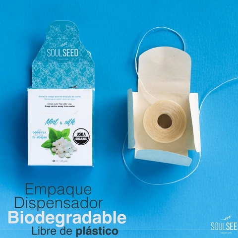 Seda Dental Biodegradable Orgánica- Menta - Soulseed - comprar online