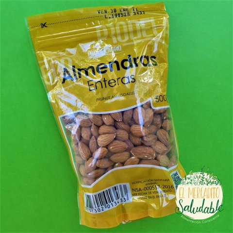 Almendras Enteras - 500 y 250gr - El Mercadito Saludable