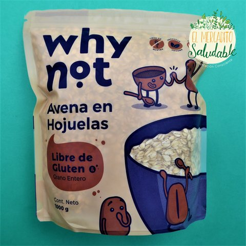 Avena libre de gluten Why Not - 1000gr