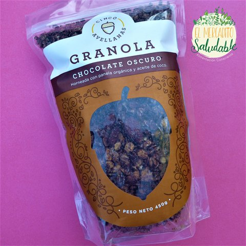 Granola Cinco Avellanas  CHOCOLATE OSCURO (VEGANA)