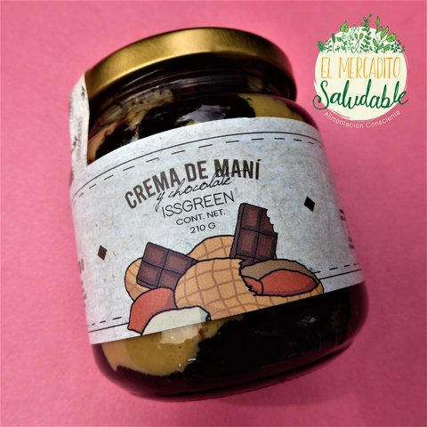 Crema de Mani + Chocolate - ISSGREEN - 210 gr