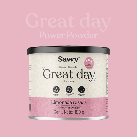 Magnesio y potasio Citrato - Great day - Savvy - 180 gr