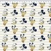 Tecido Estampado - Disney  - Mickey , Pluto e Donald