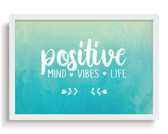 Quadro - Positive Mind, Vibes and Life - comprar online