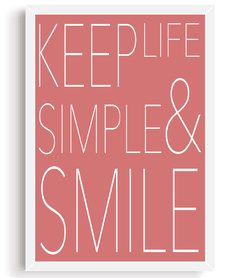 Quadro - Keep Life Simple and Smile - comprar online