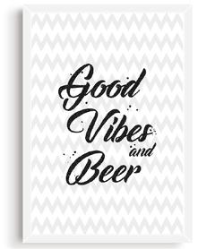 Quadro - Good Vibes and Beer - comprar online
