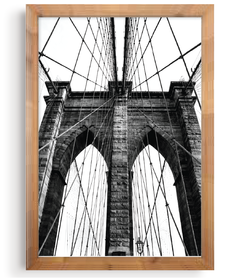 Quadro - Nova York Bridge na internet