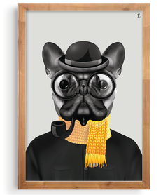 Quadro - Hipster Dog na internet