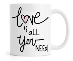 Caneca - Love is all you Need na internet