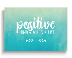Quadro - Positive Mind, Vibes and Life - Casa da Gina