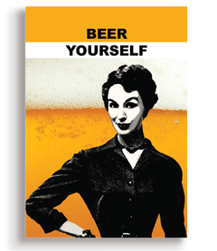 Quadro - Beer Yourself - Casa da Gina