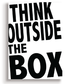 Quadro - Think Outside the Box - Casa da Gina