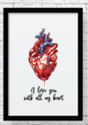 Quadro decorativo  - All of my heart