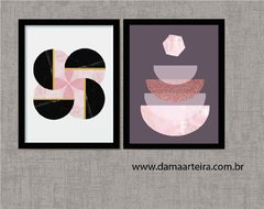 Kit de Quadros - Abstract Shapes Pink na internet