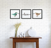 kit  quadros decorativos love birds