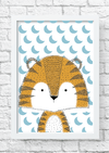 Quadro decorativo Tigre Folk