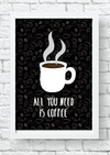 Quadro - All you need is coffee