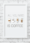 Quadro decorativo - All you need is coffee 2