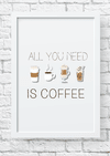 Quadro decorativo All you need is coffee 2
