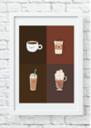 Quadro decorativo Café pop