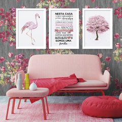 Kit de Quadros - Flamingo Tree - comprar online