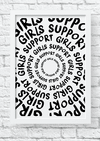 Quadro decorativo - Girls support girls