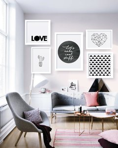 Kit de quadros - Love Black and white na internet