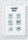 Quadro decorativo - Laundry Rules