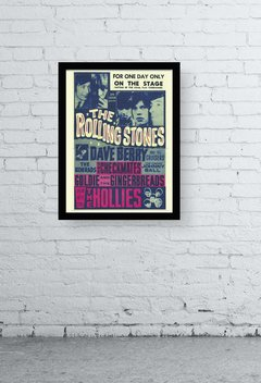 Quadro -  rolling stones old poster