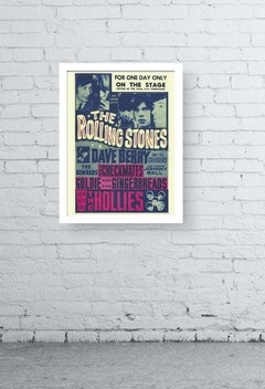 Quadro -  rolling stones old poster - comprar online