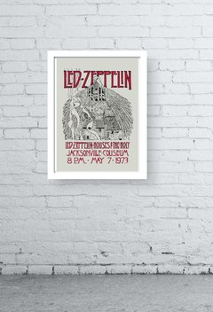 quadro decorativo - led zeppelin old poster - comprar online