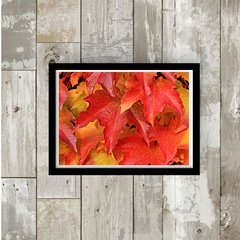 Quadro -   Red dry leaves - Dama Arteira