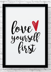 Quadro decorativo  - Love yourself first
