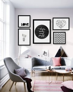 Kit de quadros - Love Black and white - comprar online
