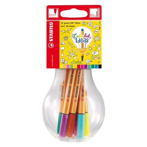 CANETA STABILO POINT 88 - COLORFUL IDEAS MINI - comprar online