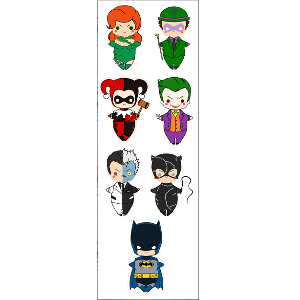 Plancha De Stickers De Batman
