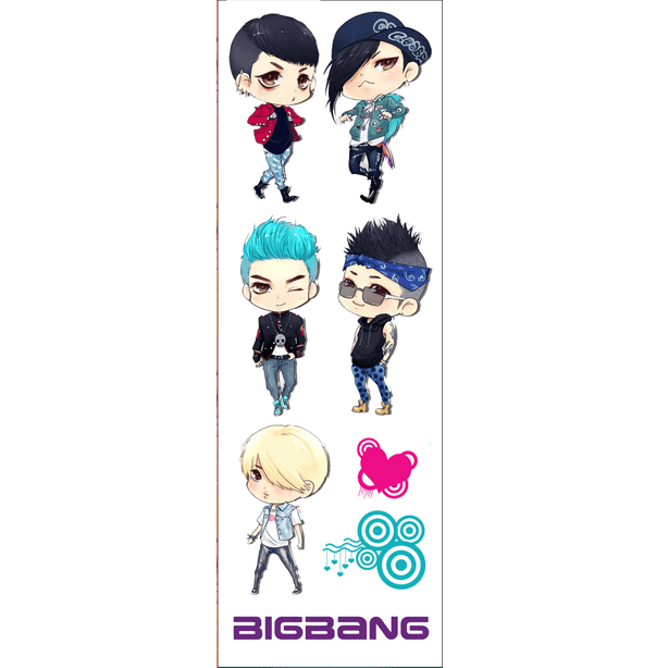 Plancha De Stickers De K-pop - Big Bang
