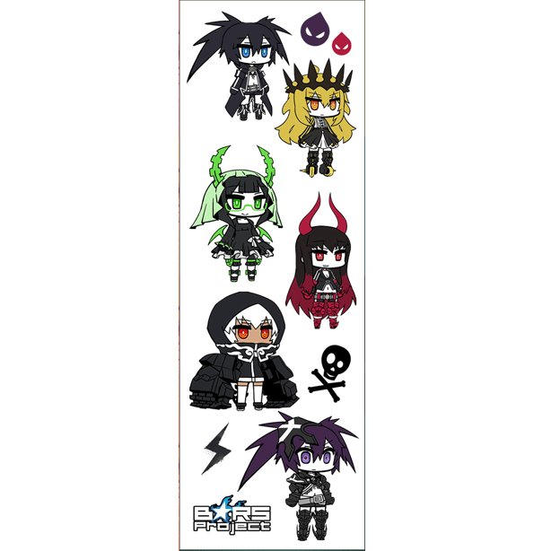 Plancha De Sticker De Black Rock Shooter