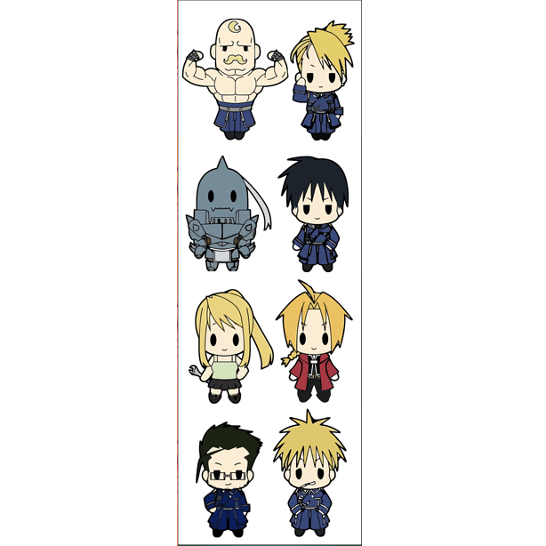 Plancha De Stickers De Full Metal Alchemist (1)