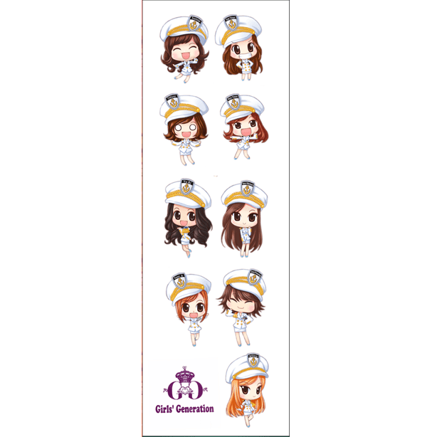 Plancha De Stickers De K-pop -Girl's Generation