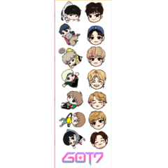 Plancha De Stickers De K-pop - Got7