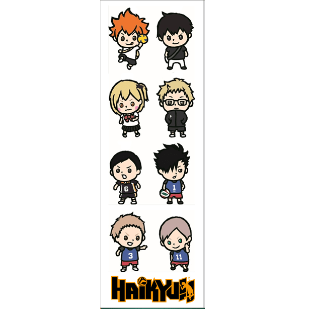 Plancha De Stickers De Haikyuu