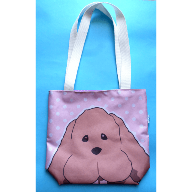 Mini Tote Bag De Yuri On Ice - Makkachin