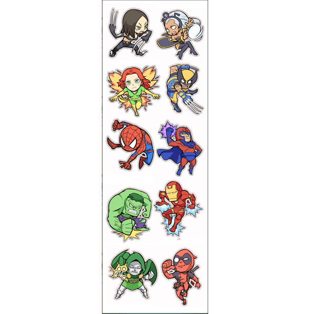 Plancha De Stickers De Marvel (1)