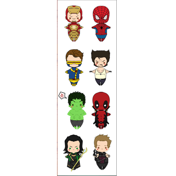 Plancha De Stickers De Marvel (2)