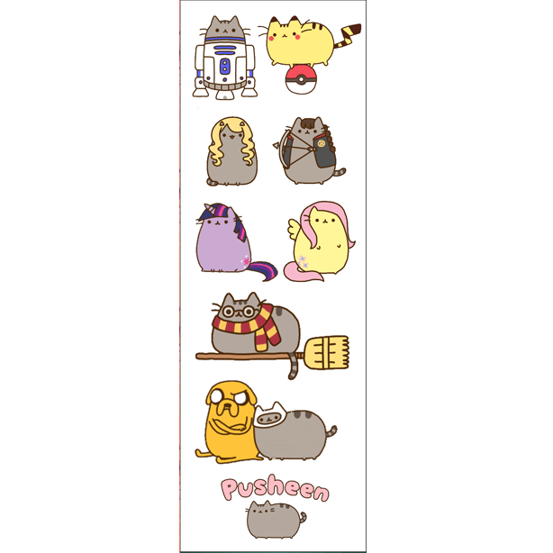 Plancha De Stickers De Pusheen (2)