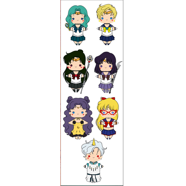 Plancha De Stickers De Anime De Sailor Moon (3)